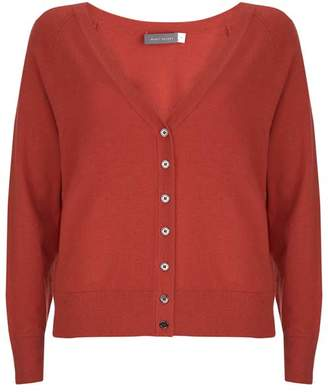 Mint Velvet Rust Button Front Cardigan