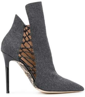 Cesare Paciotti stiletto ankle boots