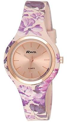 Ravel Womens Analogue Classic Quartz Watch with Silicone Strap R1801.25F