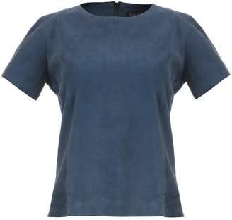 Ellesd Sky Blue Suede T-Shirt