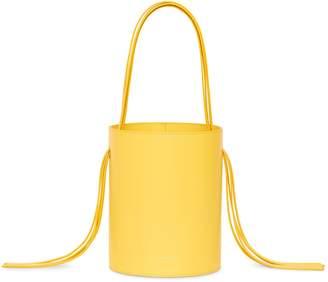 Mansur Gavriel Calf Fringe Bucket Bag - Sun