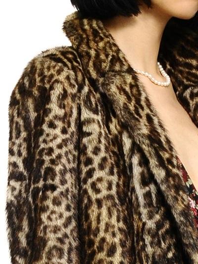 Saint Laurent Ocelot Printed Marmot Fur