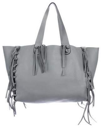 Valentino C-Rockee Fringe Tote Bag