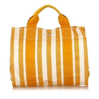 Hermes Orange Cloth Handbag