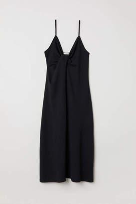 H&M Tie-detail Dress - Black - Women