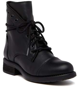 Steve Madden Dorrie Zip Lace-Up Leather Boot