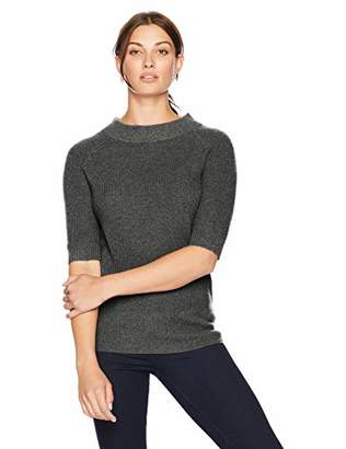 Lark & Ro Women's Sweater Half Sleeve Cashmere Sweater