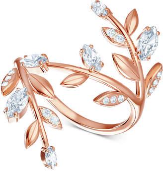 Swarovski Rose Gold-Tone Crystal Coil Ring