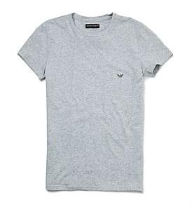 Emporio Armani Melange Cotton Stretch Crew-Neck T-Shirt