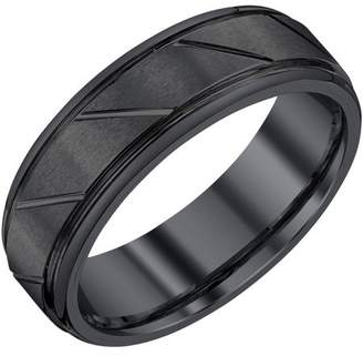 Ever One Men's Black Tungsten Wedding Band, 7mm