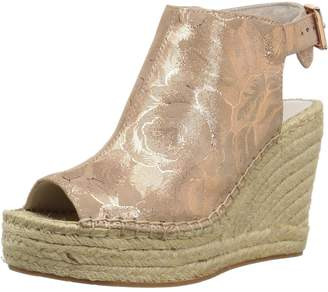 Kenneth Cole New York Women's Olivia Espadrille Peep Toe Wedge Sandal with Backstrap