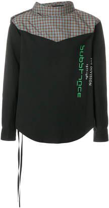 Raf Simons side tie substance shirt