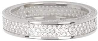 Savvy Cie Sterling Silver Allover Crystal Pave Band Ring