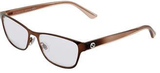 Gucci Square Plastic/Metal Optical Glasses