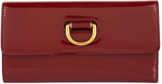 Burberry Patent Leather D-Ring Wallet