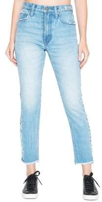 PRPS AMX Side Fray High Waist Ankle Jeans