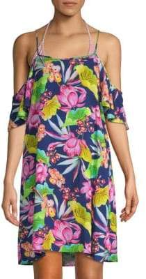 Bora Bora Cold-Shoulder Coverup Dress