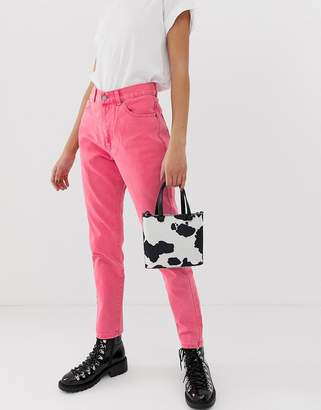 Dr. Denim Nora high rise mom jean in pink