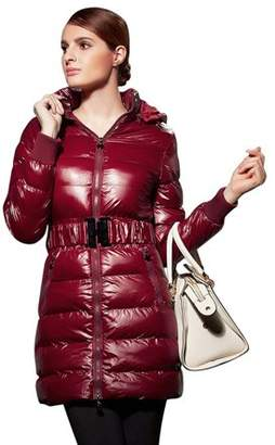 JOOBOX Women Thick Winter Clothing Winter Faux Fur Hoodie Cotton Jacket Fashion Solid Color Warm Coat Down Jacket