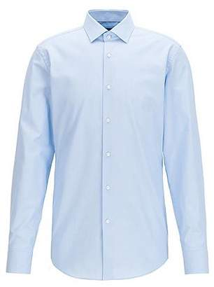 HUGO BOSS Slim-fit micro-dot shirt in cotton poplin