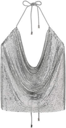 H&M Metal mesh top - Silver