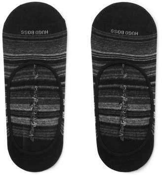 HUGO BOSS Striped Stretch Cotton-Blend No-Show Socks