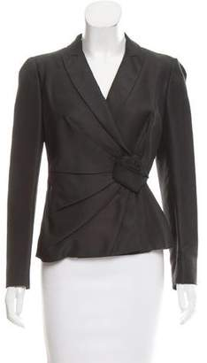 Valentino Silk Structured Jacket w/ Tags