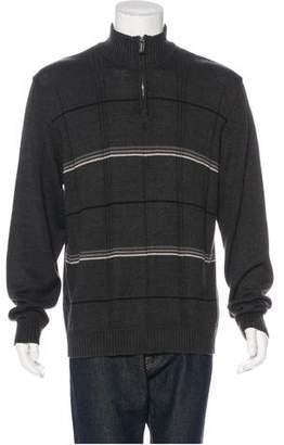 Oscar de la Renta Check Zip Sweater