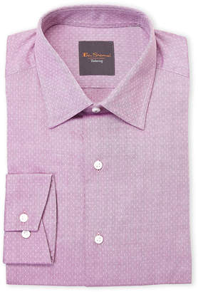 Ben Sherman Fuchsia Neat Twill Slim Fit Dress Shirt