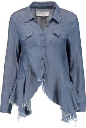 Marques Almeida Marques' Almeida Open-Back Ruffled Cotton-Broadcloth Shirt