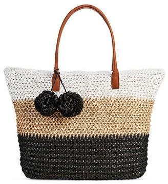 Merona Women's Straw Tote Handbag $19.99 thestylecure.com