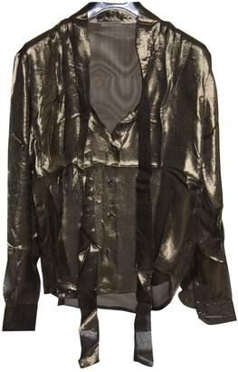 Bottega Veneta Gold Silk Top for Women