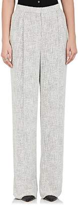 The Row Women's Hester Tweed Wide-Leg Pants