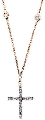 Jacquie Aiche Diamond Single Cross Choker Necklace