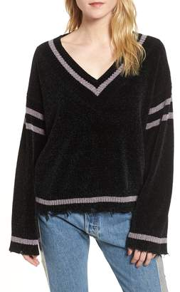 KENDALL + KYLIE Oversize V-Neck Sweater