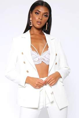02cd416b I SAW IT FIRST Ivory Military Style Fitted Blazer