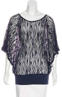 Anne Fontaine Lace Dolman Blouse