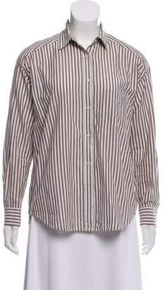 Vince Striped Button Up Shirt