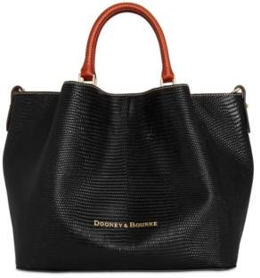 Dooney & Bourke Lizard Embossed Leather Large Barlow Tote, Created for Macy's