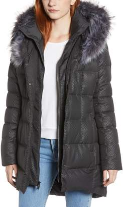The North Face Hey Mama Water Repellent 550 Fill Power Down Parka with Faux Fur Trim