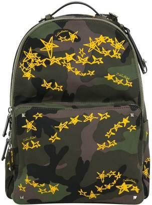 Valentino Zandra Rhoder Camouflage Cotton Backpack