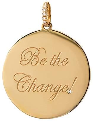 Dru Diamond Be The Change Medallion - Yellow Gold