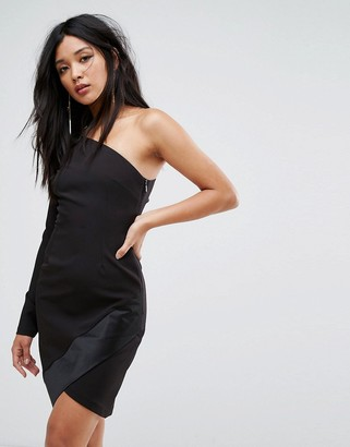 Vesper One Shoulder Mini Dress with Long Sleeves and Asymmetric Hem $89 thestylecure.com
