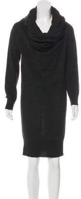 Lanvin Wool Long Sleeve Sweater Dress