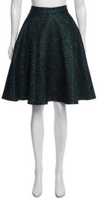 Markus Lupfer Metallic Knee-Length Skirt