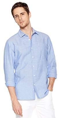 Isle Bay Linens Men's Long Sleeve Woven Shirt Standard Fit