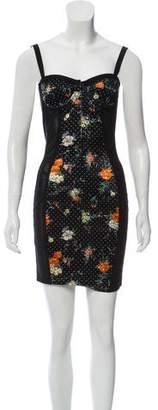 Dolce & Gabbana Mesh-Accented Mini Dress