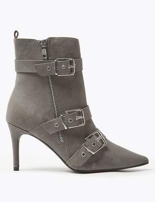 Marks and Spencer Multi Buckle Stiletto Heel Ankle Boots