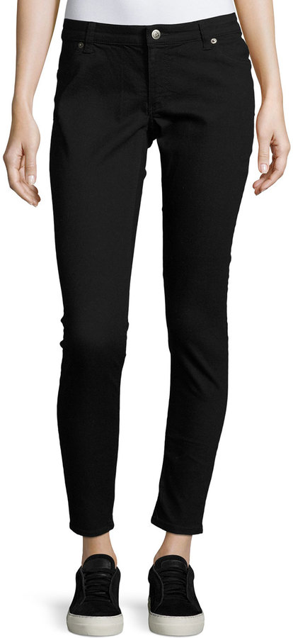 Cheap Monday Cheap Monday Spray-On Low-Rise Skinny Jeans, Black