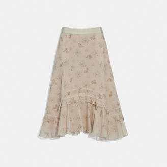 Coach Disney X Long Tiered Skirt